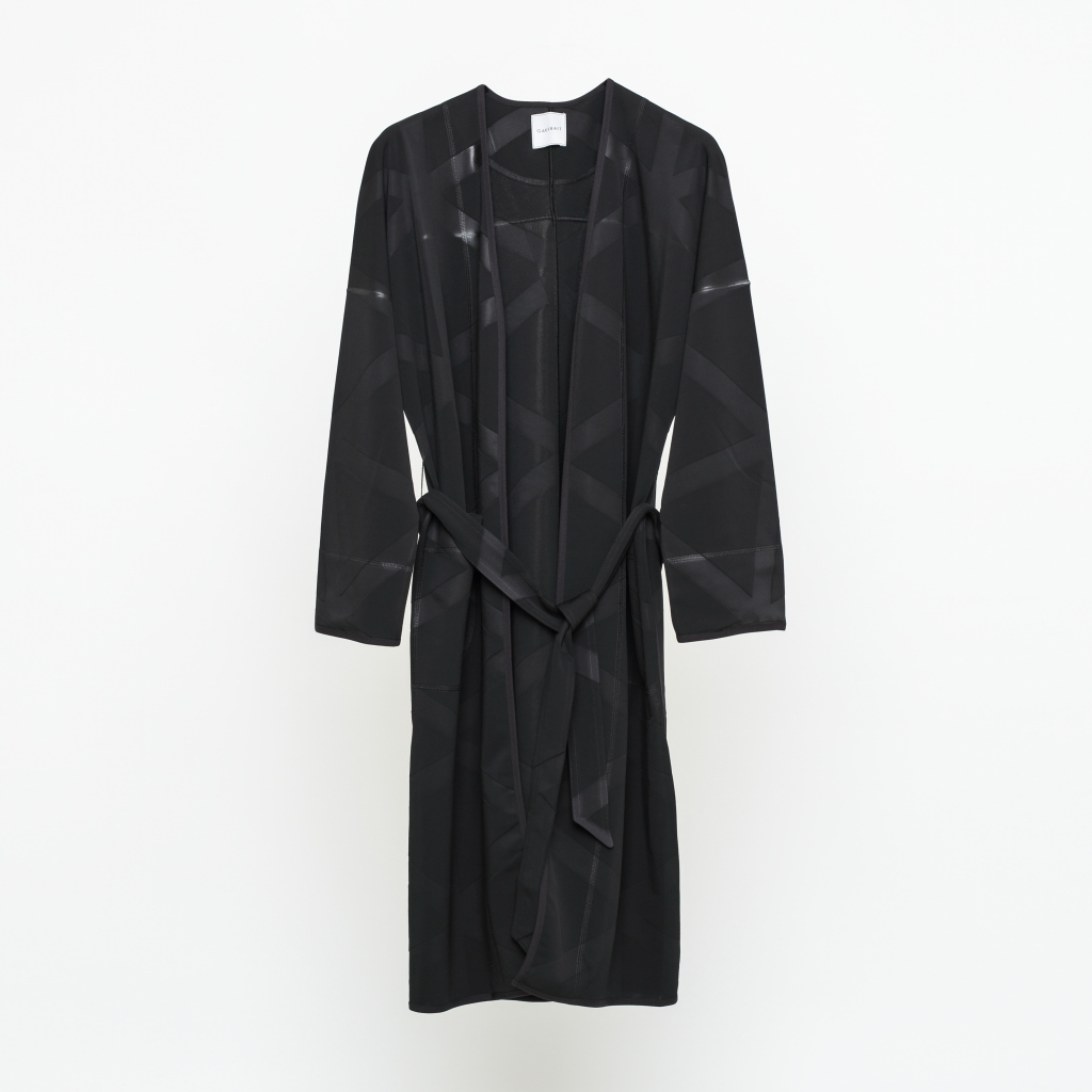 GF16 MAXI COLLARLESS ROBE